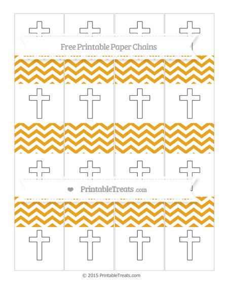 Free Marigold Chevron Cross Paper Chains