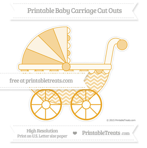 Free Marigold Chevron Extra Large Baby Carriage Cut Outs
