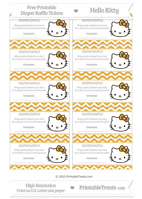 Free Marigold Chevron Hello Kitty Diaper Raffle Tickets