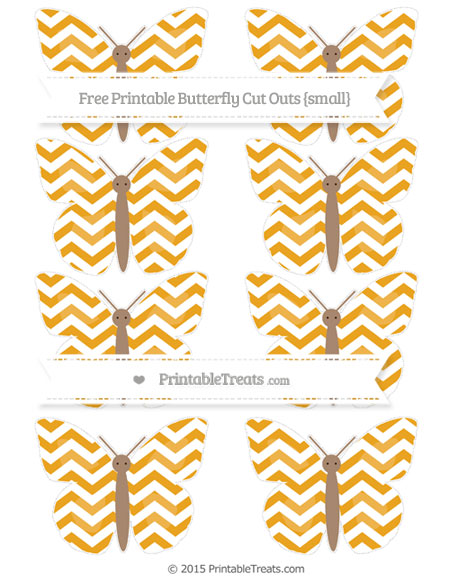 Free Marigold Chevron Small Butterfly Cut Outs
