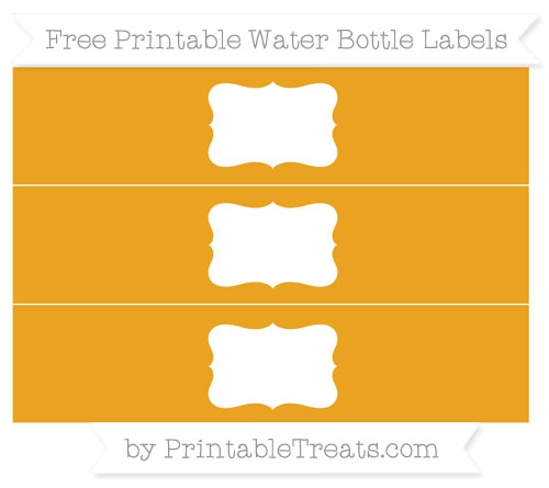 Free Marigold Water Bottle Labels