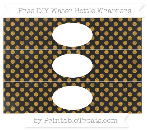Free Marigold Dotted Pattern Chalk Style DIY Water Bottle Wrappers