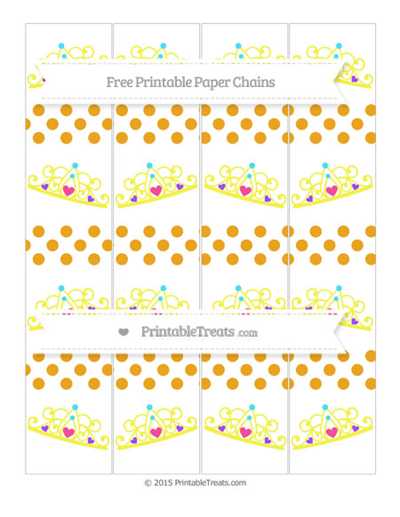 Free Marigold Dotted Pattern Princess Tiara Paper Chains
