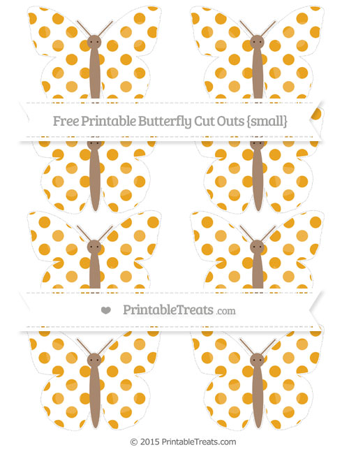 Free Marigold Dotted Pattern Small Butterfly Cut Outs