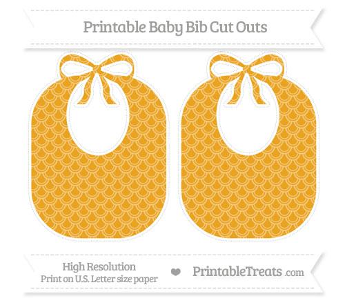 Free Marigold Fish Scale Pattern Large Baby Bib Cut Outs