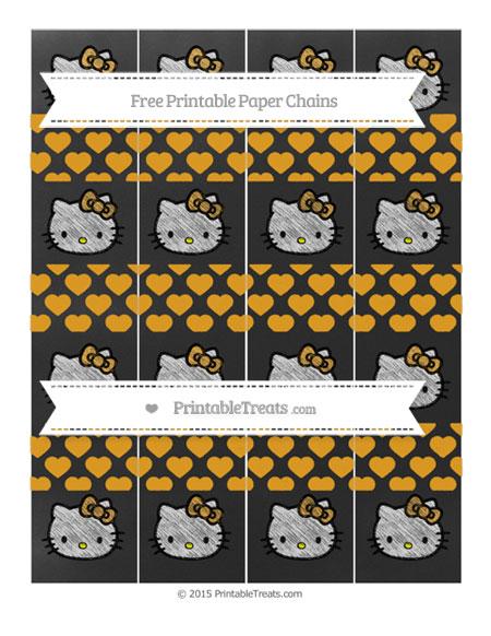 Free Marigold Heart Pattern Chalk Style Hello Kitty Paper Chains