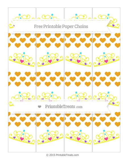 Free Marigold Heart Pattern Princess Tiara Paper Chains