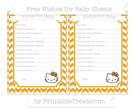 Free Marigold Herringbone Pattern Hello Kitty Wishes for Baby Sheets