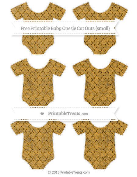 Free Marigold Moroccan Tile Chalk Style Small Baby Onesie Cut Outs