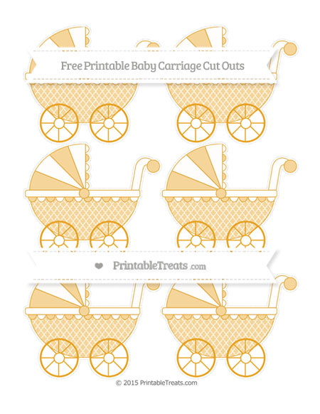 Free Marigold Moroccan Tile Small Baby Carriage Cut Outs