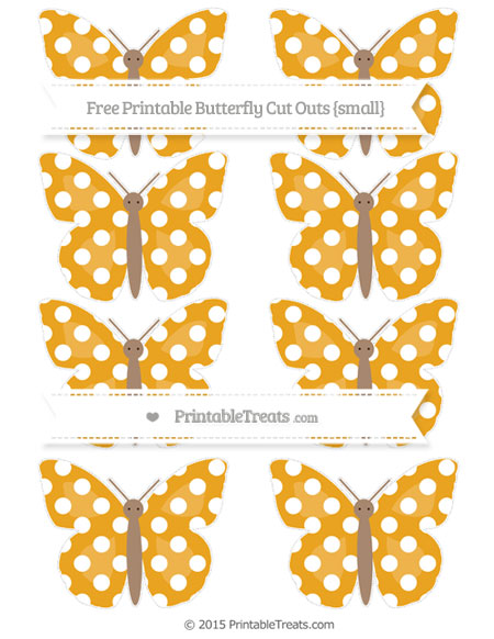 Free Marigold Polka Dot Small Butterfly Cut Outs