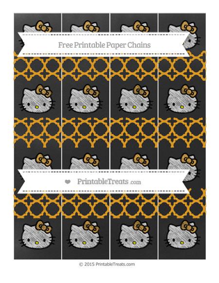 Free Marigold Quatrefoil Pattern Chalk Style Hello Kitty Paper Chains