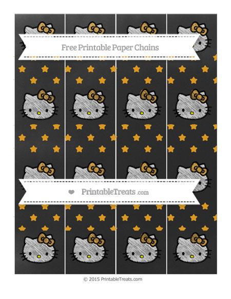 Free Marigold Star Pattern Chalk Style Hello Kitty Paper Chains