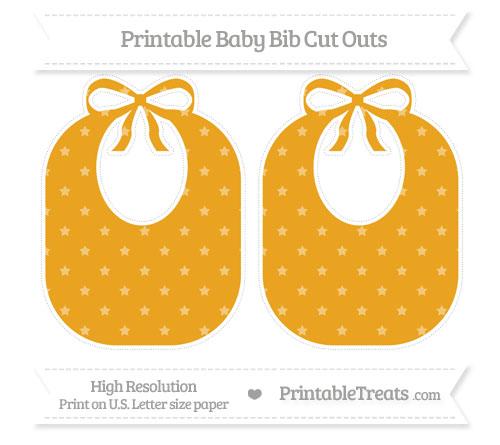 Free Marigold Star Pattern Large Baby Bib Cut Outs