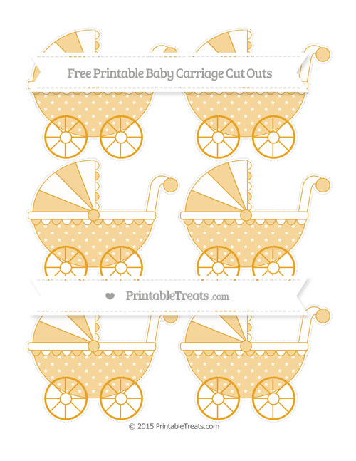Free Marigold Star Pattern Small Baby Carriage Cut Outs