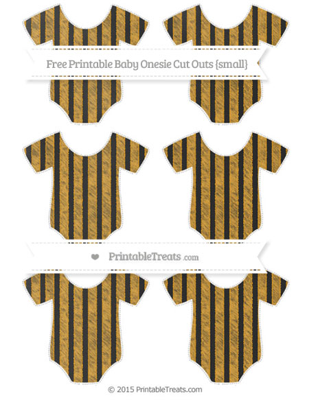 Free Marigold Striped Chalk Style Small Baby Onesie Cut Outs