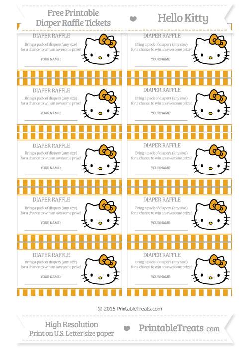 Free Marigold Striped Hello Kitty Diaper Raffle Tickets