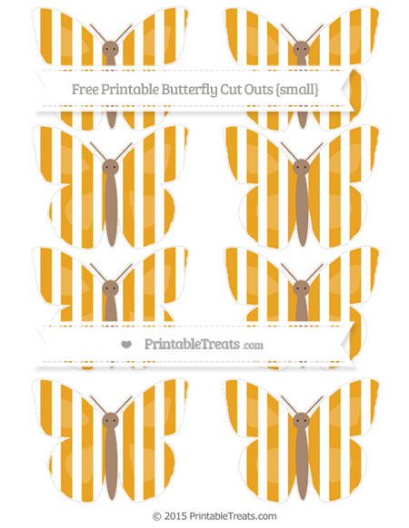 Free Marigold Striped Small Butterfly Cut Outs