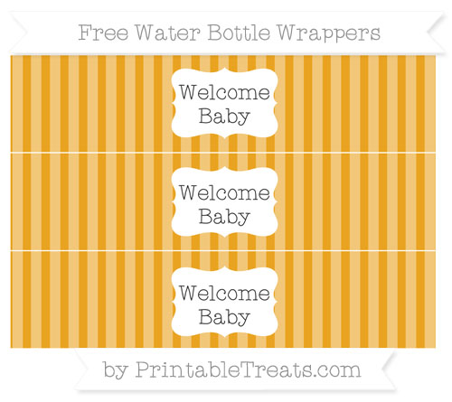Free Marigold Striped Welcome Baby Water Bottle Wrappers