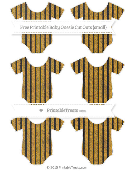 Free Marigold Thin Striped Pattern Chalk Style Small Baby Onesie Cut Outs