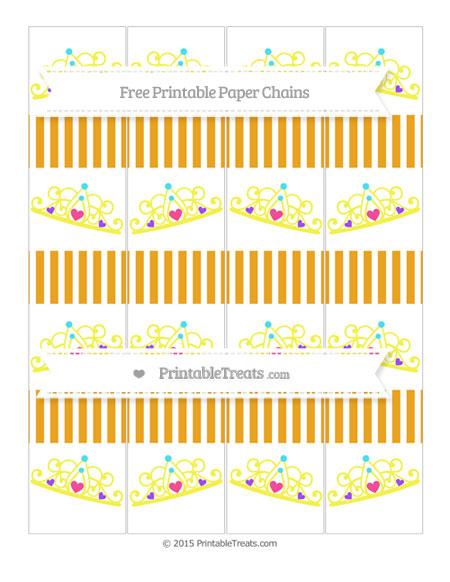 Free Marigold Thin Striped Pattern Princess Tiara Paper Chains