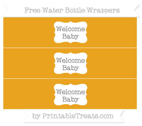 Free Marigold Welcome Baby Water Bottle Wrappers