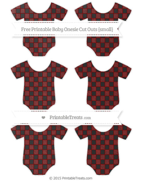 Free Maroon Checker Pattern Chalk Style Small Baby Onesie Cut Outs