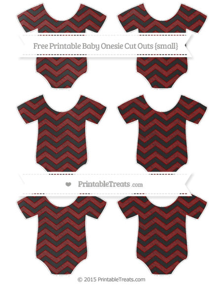 Free Maroon Chevron Chalk Style Small Baby Onesie Cut Outs