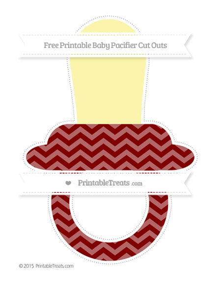 Free Maroon Chevron Extra Large Baby Pacifier Cut Outs