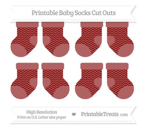 Free Maroon Chevron Small Baby Socks Cut Outs