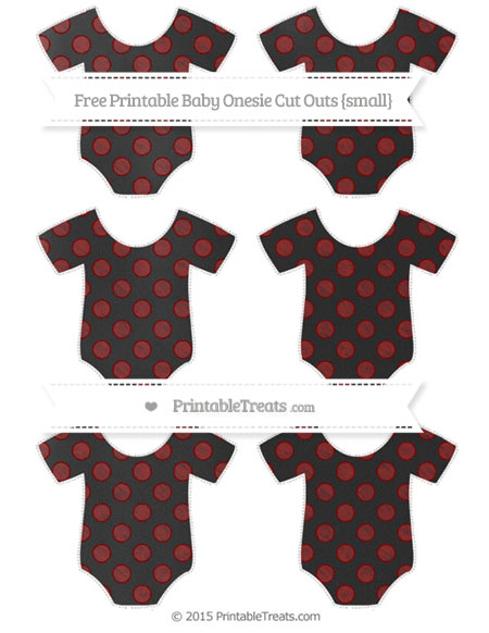 Free Maroon Dotted Pattern Chalk Style Small Baby Onesie Cut Outs