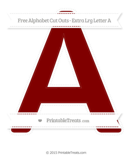 Free Maroon Extra Large Capital Letter A Cut Outs