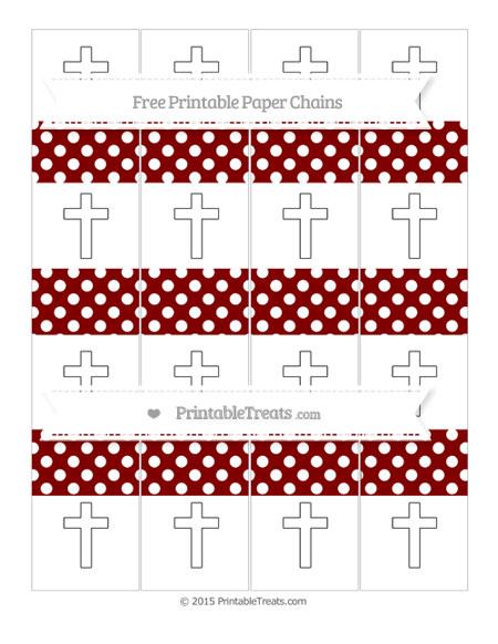 Free Maroon Polka Dot Cross Paper Chains