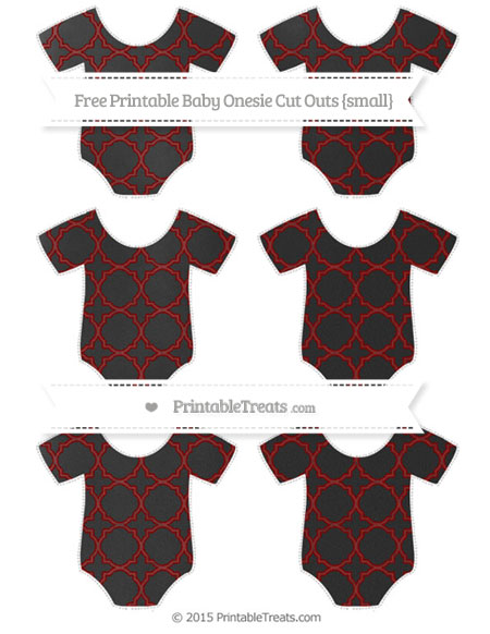 Free Maroon Quatrefoil Pattern Chalk Style Small Baby Onesie Cut Outs