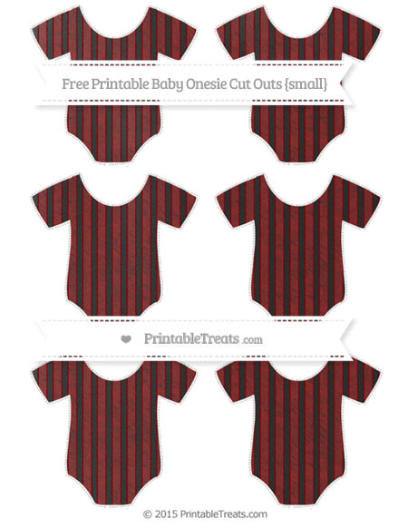 Free Maroon Thin Striped Pattern Chalk Style Small Baby Onesie Cut Outs
