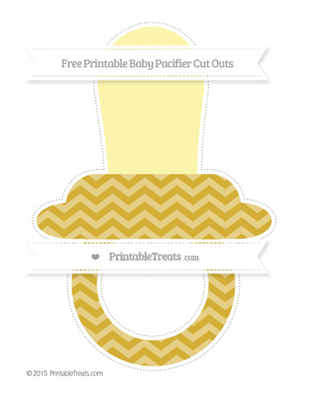 Free Metallic Gold Chevron Extra Large Baby Pacifier Cut Outs