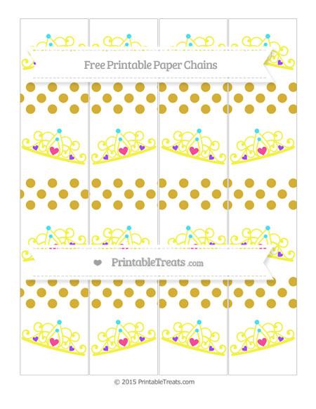 Free Metallic Gold Dotted Pattern Princess Tiara Paper Chains