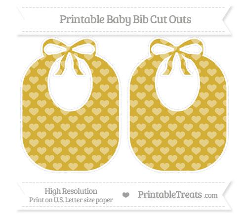 Free Metallic Gold Heart Pattern Large Baby Bib Cut Outs