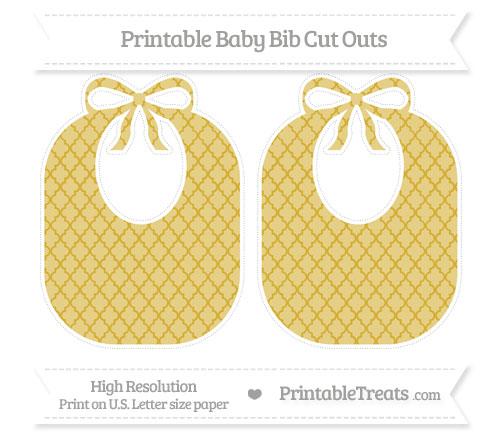 Free Metallic Gold Moroccan Tile Large Baby Bib Cut Outs