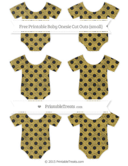 Free Metallic Gold Polka Dot Chalk Style Small Baby Onesie Cut Outs