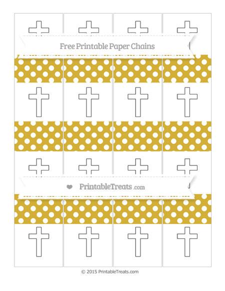 Free Metallic Gold Polka Dot Cross Paper Chains