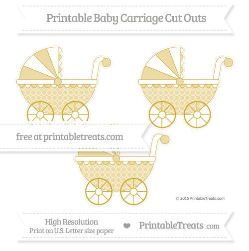Free Metallic Gold Quatrefoil Pattern Medium Baby Carriage Cut Outs