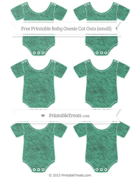 Free Mint Green Chalk Style Small Baby Onesie Cut Outs