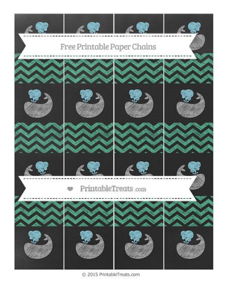 Free Mint Green Chevron Chalk Style Whale Paper Chains