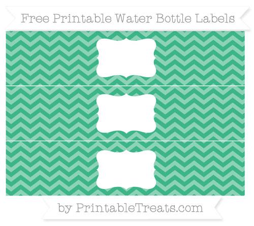 Free Mint Green Chevron Water Bottle Labels