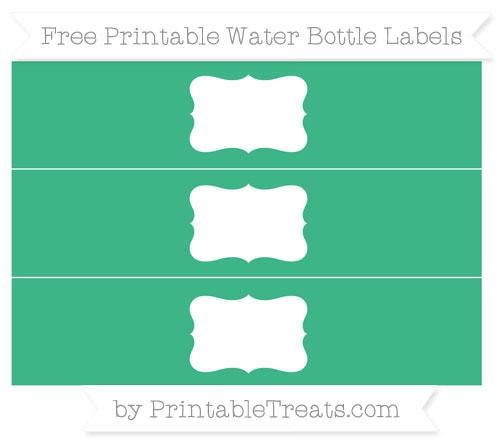 Free Mint Green Water Bottle Labels