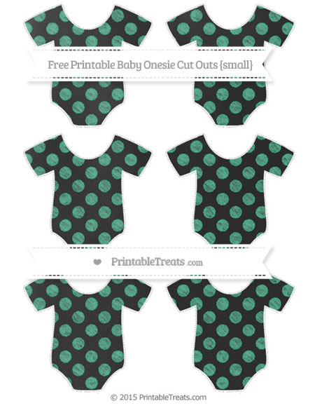 Free Mint Green Dotted Pattern Chalk Style Small Baby Onesie Cut Outs