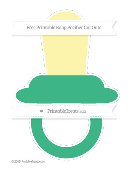 Free Mint Green Extra Large Baby Pacifier Cut Outs