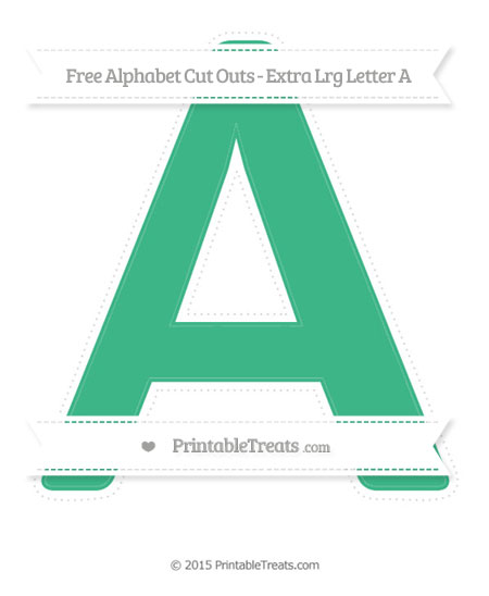 Free Mint Green Extra Large Capital Letter A Cut Outs