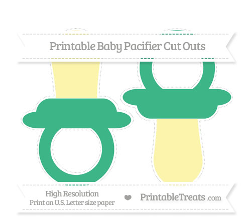 Free Mint Green Large Baby Pacifier Cut Outs